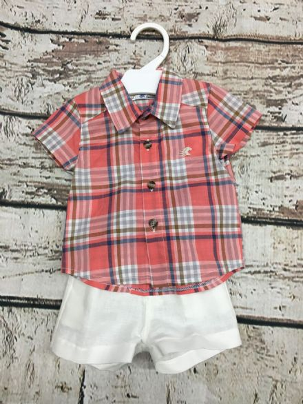 Alber Check Shirt and Shorts Set